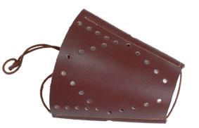 Armskydd läder med snabbfäste